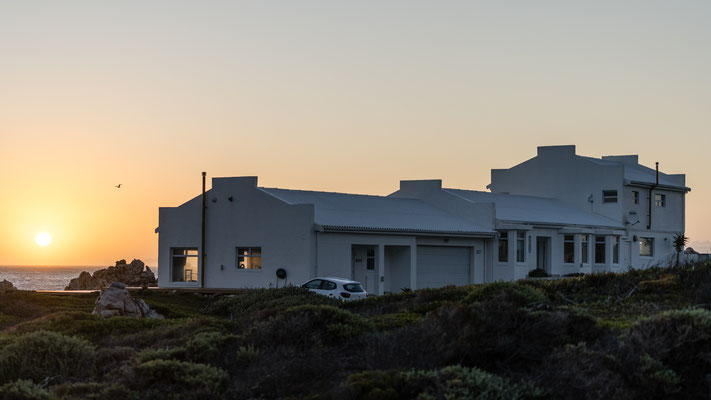 AirBnB during sunset in Rooi-Els, South Africa