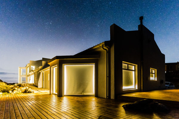 AirBnB at night in Rooi-Els, South Africa