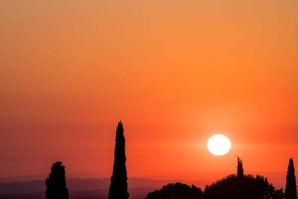 Sunset near Mount Ventoux