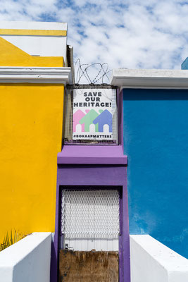 Coloured houses in Bo-Kaap, Capetown, South Africa