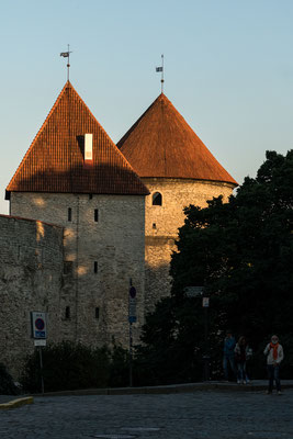 Towers of the city wall of Tallinn