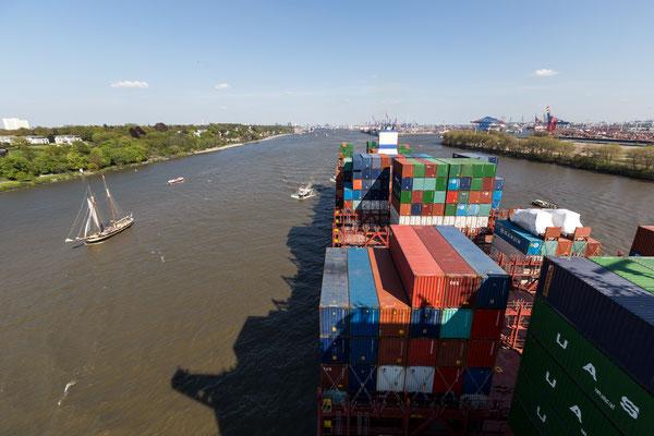 Leaving the Port of Hamburg