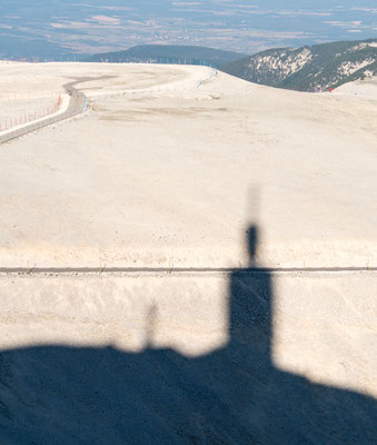 Shadow of Mont Ventoux Observatory during sunset
