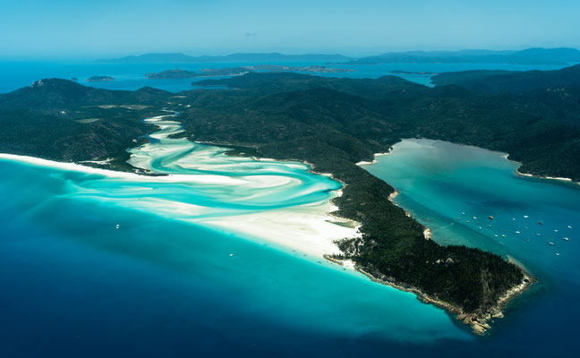 Aerial of Whitsunday Island, Queensland, Australia