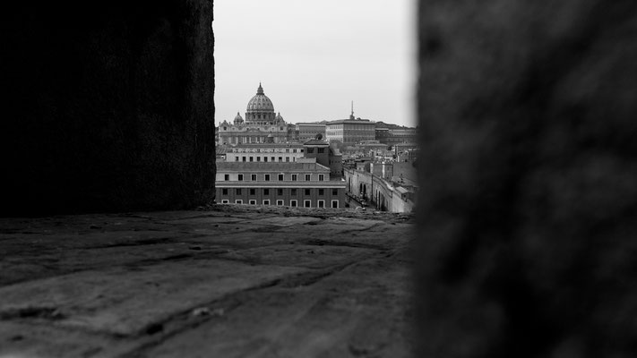 Castle Sant'Angelo offers some fantastic views towards St. Peter's Basilica.