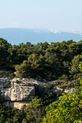 It is easy to spot Mont Ventoux in the Vaucluse region.