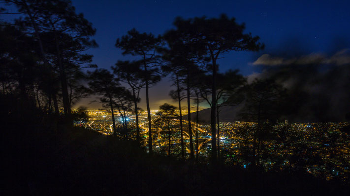 Night shot of Capetown city bowl from Signal Hill, South Africa