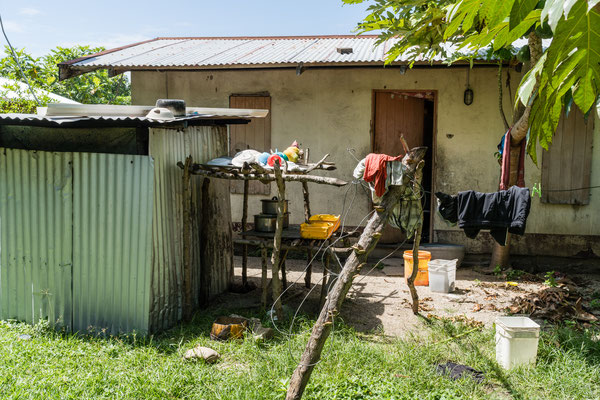 Outdoor kitchen on an island of Fiji