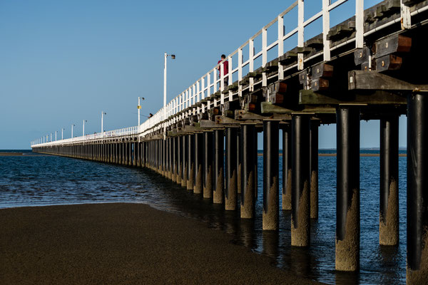 A pier in Queensland, Australia, acting as a leading line
