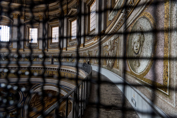 You can visit the cupola of St. Peter's Basilica and walk above everybody visiting the church.