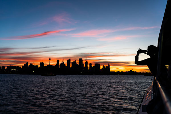 Sydney skyline after sunset