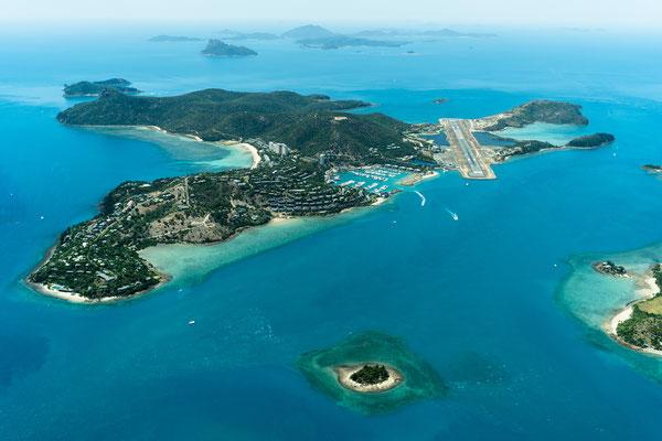 Aerial of Hamilton Island, Queensland, Australia