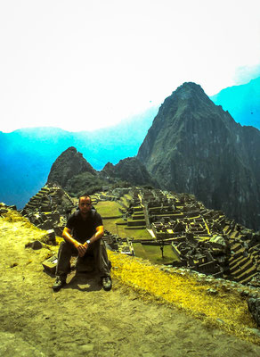 Slide film of me at Machu Picchu taken by a colleague of mine