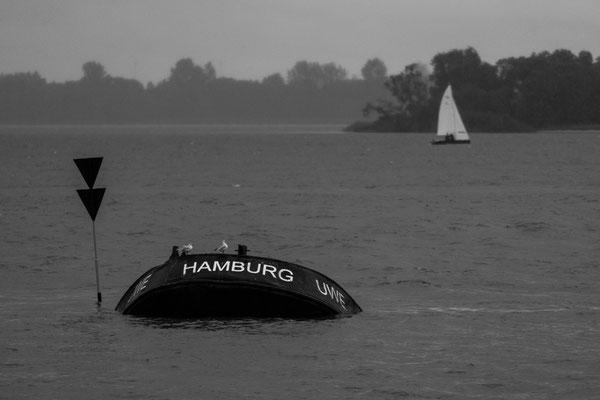 """Sun ship """"Uwe"""" in Blankenese at Elbe river"""