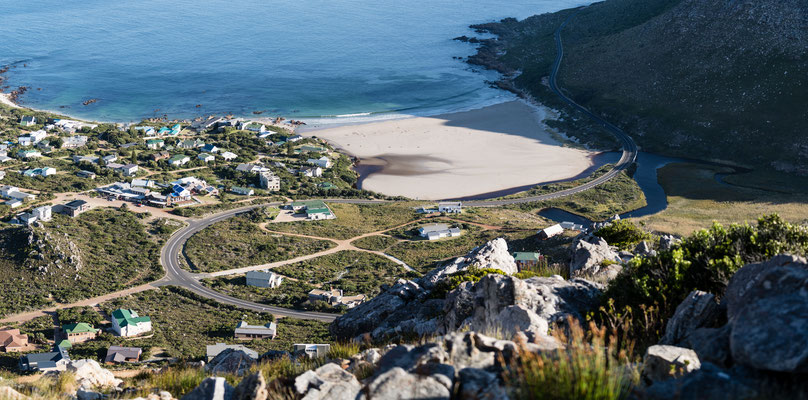 Rooi-Els beach from Klein-Hangklip mountain, South Africa