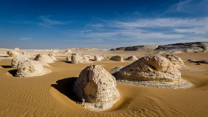Stones of White Desert in Egypt