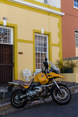 Motor bike in Bo-Kaap, Capetown, South Africa