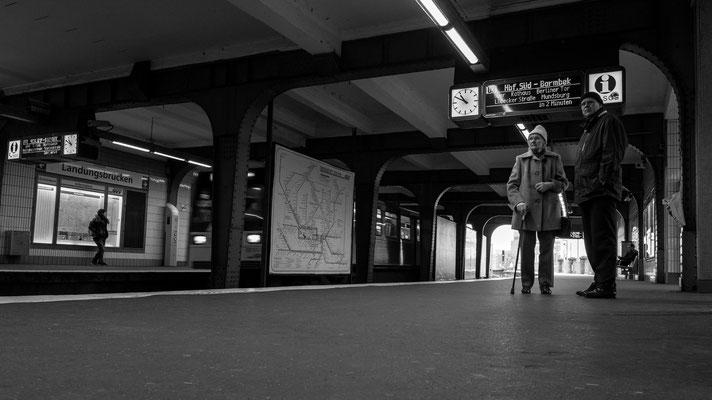 Metro station Landungsbrücken in Hamburg