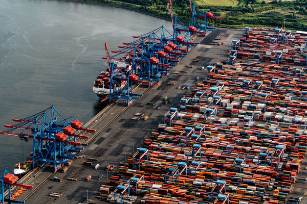 Aerial of Container terminal Altenwerder