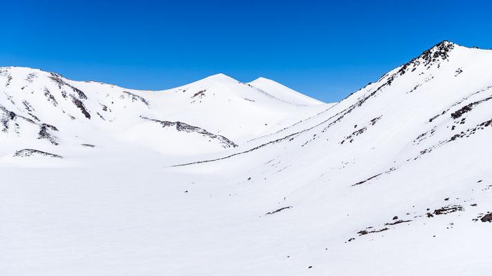Snow covered Tongariro in New Zealand