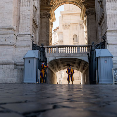 Swiss Guard outside St. Peter's Basilica