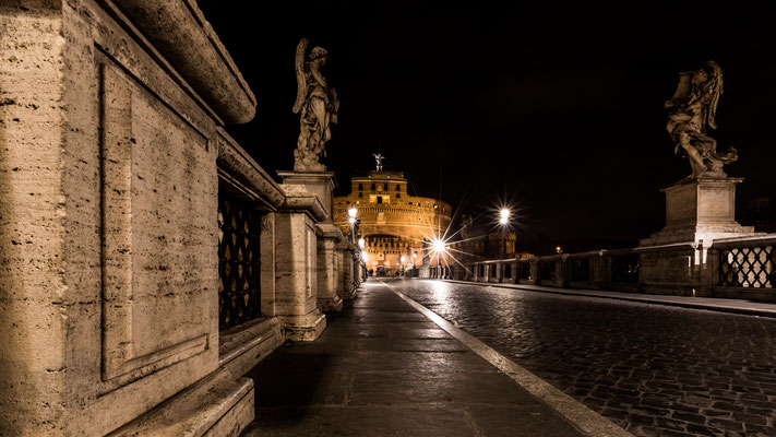 Bridge over Tiber at Castel Sant'Angelo