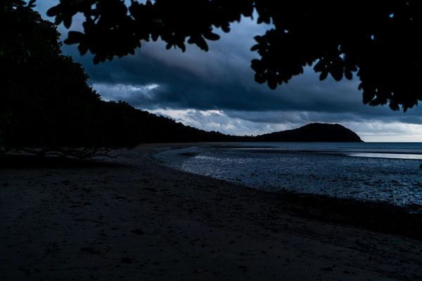 Before sunrise at Cape Tribulation beach, Queensland, Australia