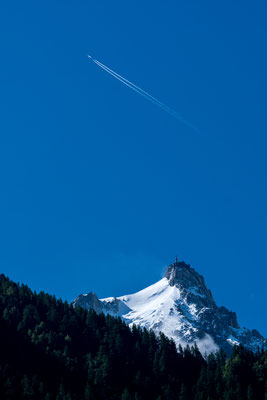 Aiguille du Midi from Chamonix valley