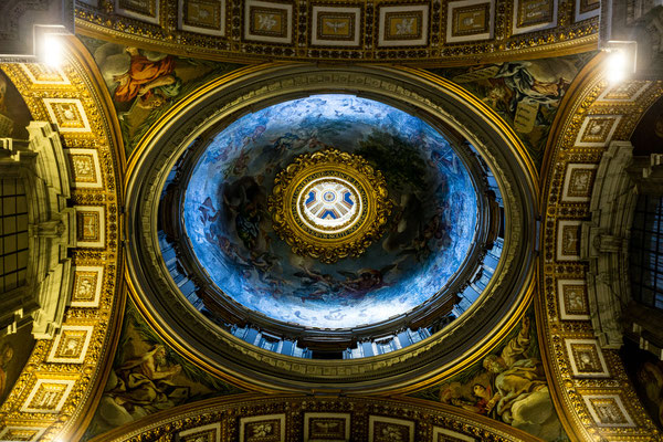 The ceiling of one of the side chapels of St. Peter's Basilica