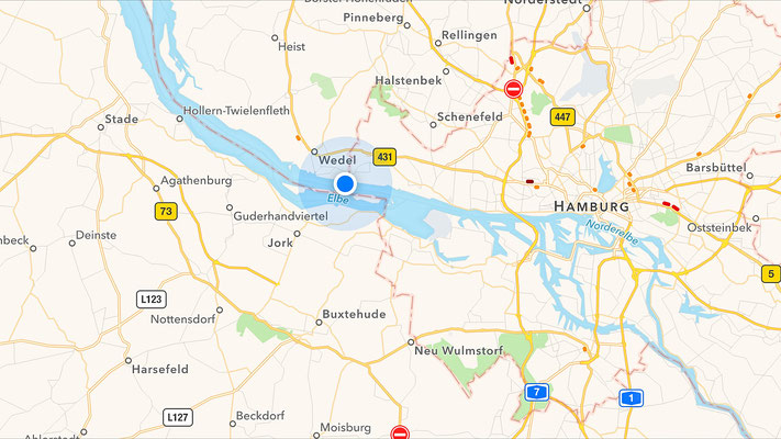 The border of Schleswig-Holstein and Hamburg is where Elbe and Harbour pilots change.