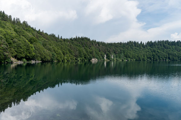 Mirrored Lac Pavin at Auvergne