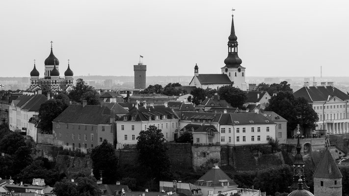 View of Toompea hill from St. Olaf's church