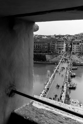 Pons Aelius from within Castel Sant'Angelo