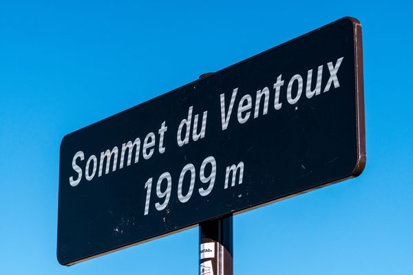 Sign of the top of Mont Ventoux, Provence