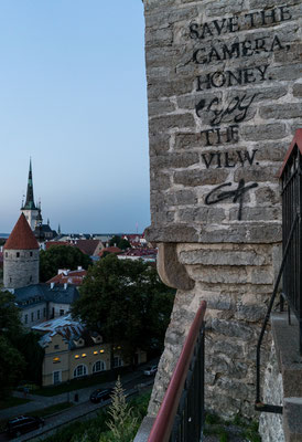 Toompea hill in Tallinn after sunset