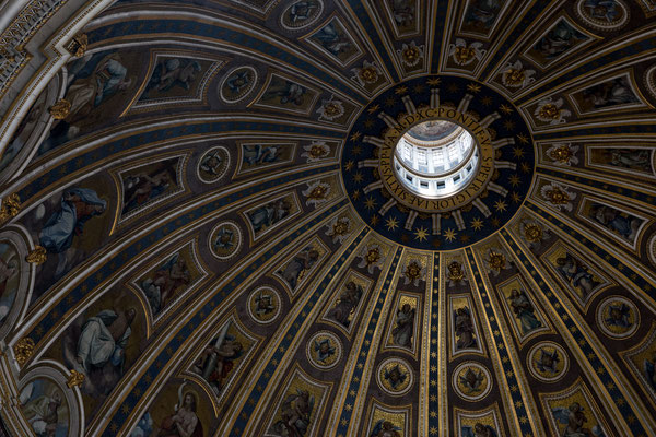 The inside of the cupola of St. Peter's Basilica