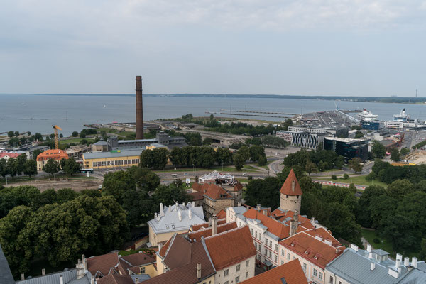 View of Baltic Sea from Linnahall, Estonia