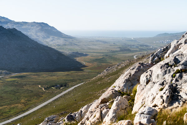 Clarence Drive (R44) towards Betty's Bay from Klein-Hangklip mountain, Rooi-Els, South Africa