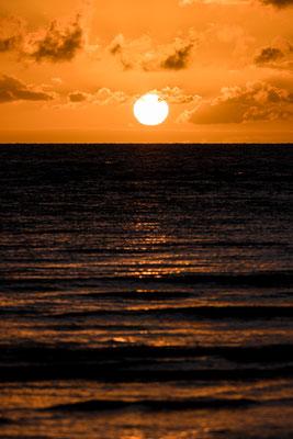 Sunrise at Cape Tribulation beach, Queensland, Australia