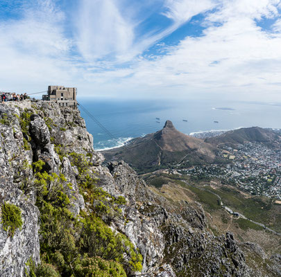 Cable car station of Table Mountain and Lion's Head
