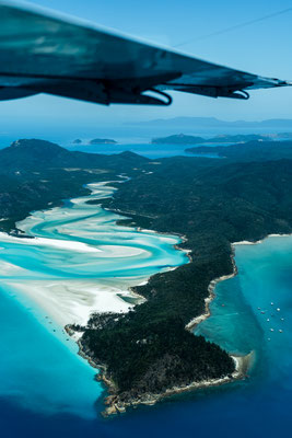 Aerial of Hill Inlet on Whitsunday Island, Queensland, Australia