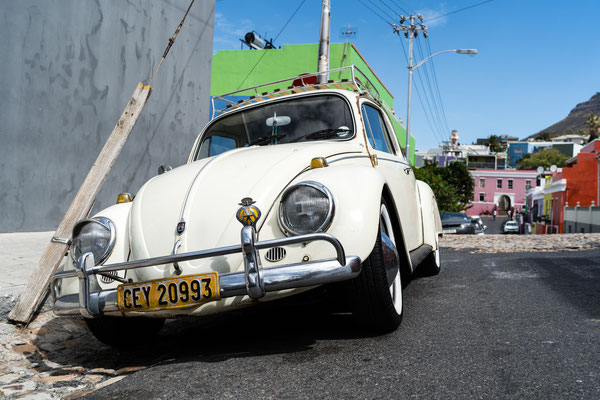 Car in Bo-Kaap, Capetown, South Africa