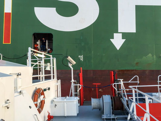 Leaving CSCL Saturn through the pilot door near Elbe 1