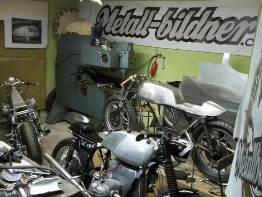 Moto Guzzi Stahltank Aulmaske Aluhöcker BMW Alutank
