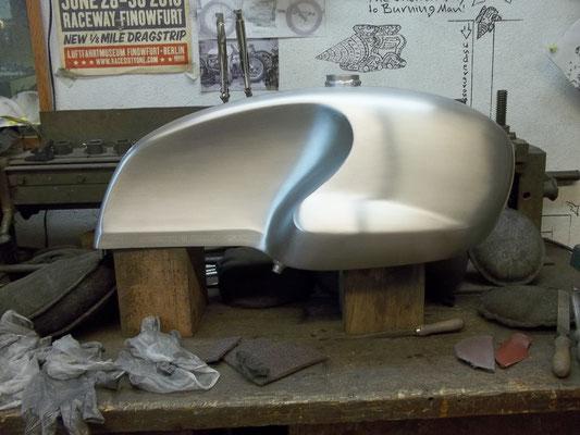 Aluminiumtank Moto Guzzi
