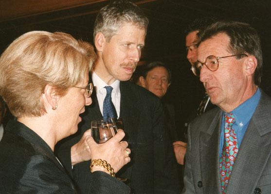 20.10.1995, Besuch von Carla del Ponte, Schweizer Bundesanwältin, Foto: Brigitt Risch, Schaan