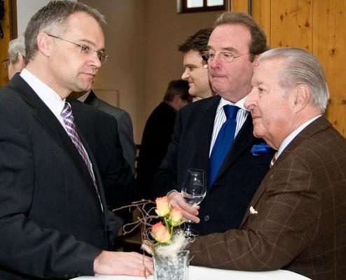 Festakt 40 Jahre Liechtensteiner Presseclub, Klaus Tschättscher, Roland Lapp, Felix Real