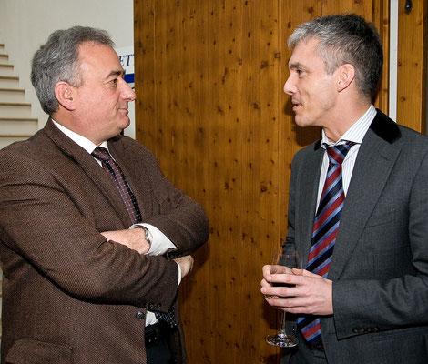 Festakt 40 Jahre Liechtensteiner Presseclub, Arthur Brunhart & Michael Lauber