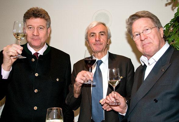 Festakt 40 Jahre Liechtensteiner Presseclub, Gebrüder Joho mit Euchen Seger