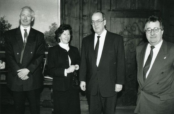26.02.1993; Besuch von Manfred Rommel, Oberbürgermeister in Stuttgart,  Foto: Roland Korner, Triesen